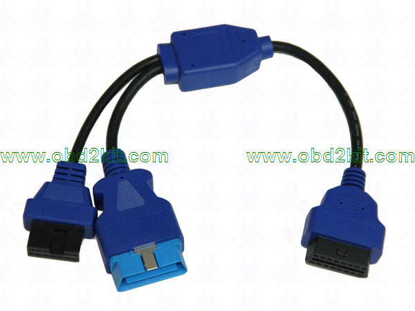 OBD2 Female to OBD2 Male+Mitsubishi-12Pin Cable-all OBD1